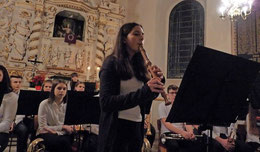 Ein wundervolles Solo auf der Altblockflöte bot Inga Busche. Foto: Susanne Hanke