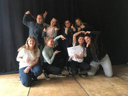 Hintere Reihe von links nach rechts: Natalie Thymian, Lena Bauer, Celina Hirschmann, Doreen Treichel vordere Reihe von links nach rechts: Jacqueline Hartmann, Laura Skwortz, Scharie Bank, Laura Pietschmann.