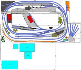 geplante Bahnhofsebene mit Zufahrt aus Ebene 0