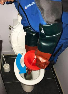 Débouchage WC au furet