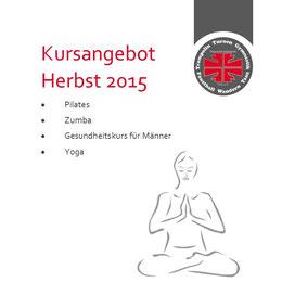 Kursangebot Herbst 2015 Turnverein Ichenheim
