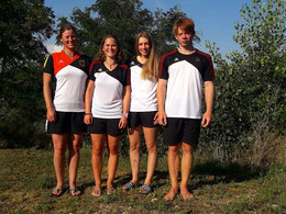 Unsere Finalisten (v.l.n.r.): Anne Hübner (K1 Damen), Carolin Mayer & Isabelle Völkel (K1 Juniorinnen), Philip Josef (C1), Foto: Clemens Josef