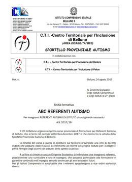 Comunicato della formazione dei referenti per l'autismo