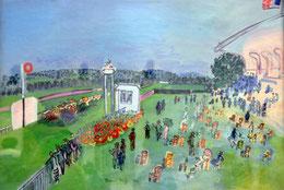 """""""Les chevaux de Raoul Dufy. Il a peint un tableau qui s'appelle """"Course hippique à Deauville, le départ"""". Pourtant j'aurais juré que les chevaux franchissaient la ligne d'arrivée."""" (p.97)"""