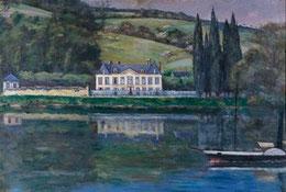 La maison de Flaubert à Croisset, peinture de René Thomsen, 1897 (Bibliothèque Municipale de Rouen)