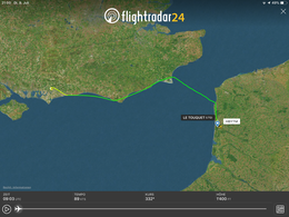 Channel crossing Le Touquet LFAT - Chichester Goodwood EGHR