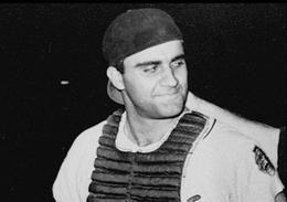 Nella foto Joe Torre nel ruolo di catcher