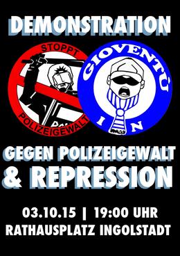 Flyer gegen Polizeigewalt und Repression