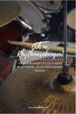 Rhythmusübungen Schlagzeug und Cajon Ideen