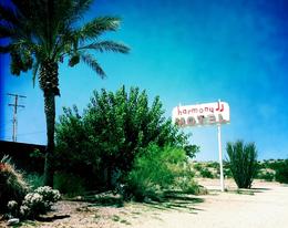 Seit einigen Jahren hängt wieder das Original Schild vorm Harmony Motel