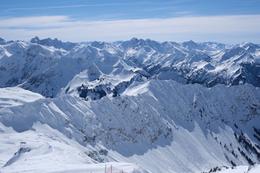 ネーベルホルンからの冬の眺め