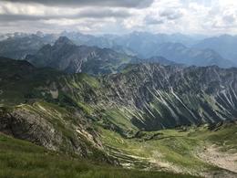 vom Nebelhorn im Sommer