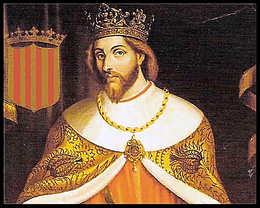 Rey Jaime I de Aragón, creador del reino cristiano de Valencia.