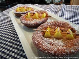 Brochettes d'ananas façon clafoutis