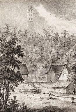 Lithographie von F. Pecht und G. Gersbach, 1831