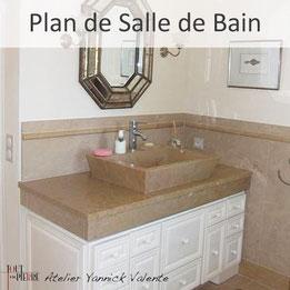 Plan de salle de bain en pierre - Tout en Pierre - Yannick Valente - Var