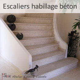 Escalier en pierre habillage béton - Yannick Valente - Tout en  pierre (Var 83)