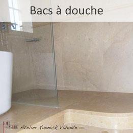 Bac à douche en pierre - Tout en Pierre - Yannick Valente - Var
