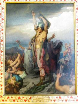 Vercingétorix appelant les Gaulois à la défense d'Alaise, vers 1869, François-Emile EHRMANN
