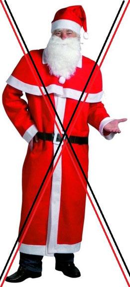 Sollen die Kinder auf Anhieb erkennen das es keinen Weihnachtsmann gibt? Warum Kínderträume so früh zerstören? Mäc Geiz Kostüm für 7,99€ ...