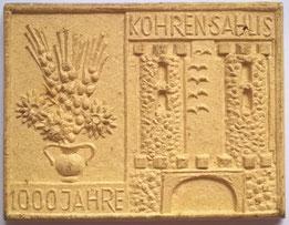 Plakette 1000 Jahre Kohren-Sahlis