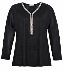 sommerlich leichte Langarm Damen Bluse für Übergrößen mit Zebraprint