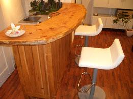 美容室 木製 カウンター