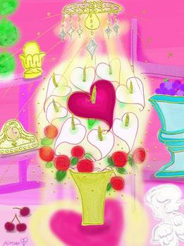 Calla lily Heart