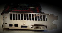 R9 280X = 2 mini DP+ HDMI + DVI