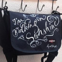 Messeevent Lettering - personalisierte Taschen im Trend