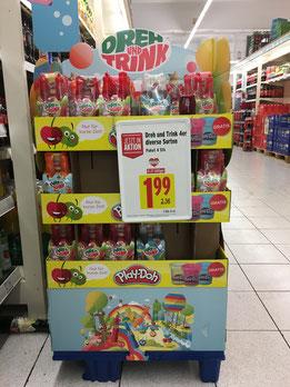 Cross-Promotion Dreh und Trink mit Play-Doh