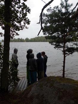 Erster Blick auf den See