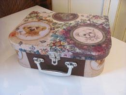 декупаж чемоданчика шебби шикКонфетница в стиле шебби шик конфетница своими руками вышивка комната мастерская мебель своими руками