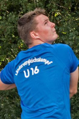 Yannic Hein vertrat den NLV beim Ländervergleichskampf U16