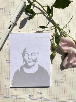 Notizblock Buddha DIN A6