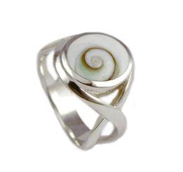 silberring silber ring damen herren 925er 925 echt onlineshop online shop kaufen bestellen poliert matt eismatt perle Muschel Shiva Shivaauge Perlmutt Set Damenring Damen Herrenring Herren Männer Frauen