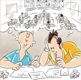 Martin Sturmer und Thomas Holzinger als Cartoon