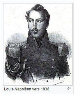Louis Napoléon en 1836, 1er président de la république française