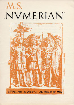 Stapellaufgedicht M.S. Numerian