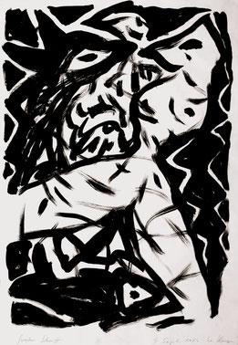 Großer Schritt, 100/70 cm, Acrylfarbe auf Papier, 1986
