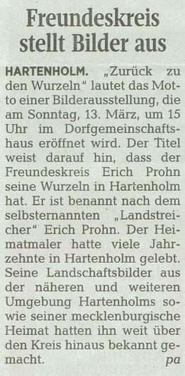 Segeberger Zeitung 11.03.2016