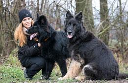 Melanie Koch mit Ice und Kyra