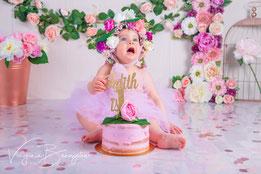 gâteau pour séance photo smash cake