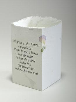 Themenlicht aus Büttenpapier - Text