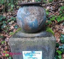 Weltkugel aus Stein am Rulamanweg