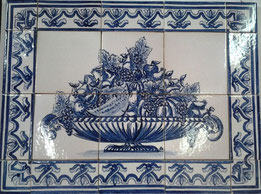"""Erntedank- blau-weiß"" Art.-Nr.: PN-113, Größe: 56x42cm"