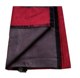 Bufanda exclusiva en 100% Seda, en negro gris paisley