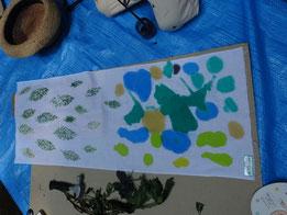 藍の葉と作品