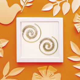 Ohrringe Spirale, Messing, Fairtrade