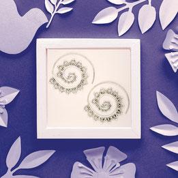 Ohrringe Spirale, Messing versilbert, Fairtrade